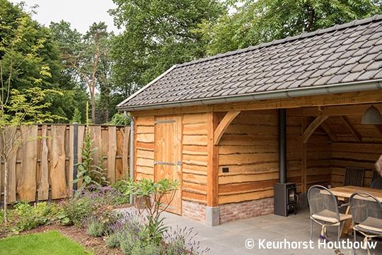 Keurhorst houtbouw veranda met berging for Berging met veranda