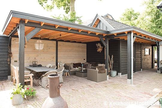 Veranda Met Schuur : Keurhorst houtbouw veranda met schuur