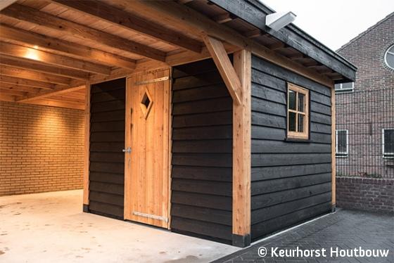 De Schuur Kootwijkerbroek : Keurhorst houtbouw schuur met carport