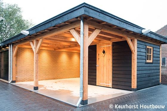 Keurhorst Houtbouw - Schuur met carport